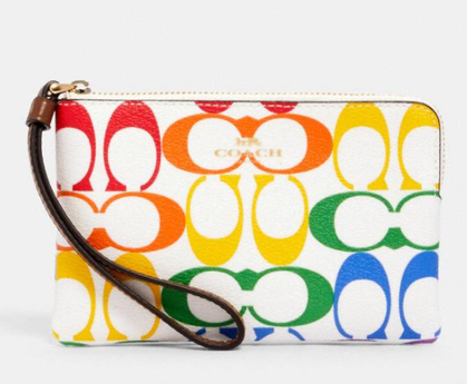 Rainbow Coach Outlet Wristlet $22 + Free Shipping!!