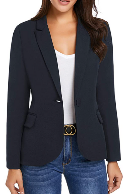 So sleek! I love the look of a blazer with jeans and heels - 60% OFF