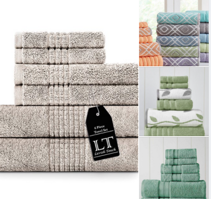 FANTASTIC DEAL!! 6-Piece Luxury Towel Sets for only $19.99