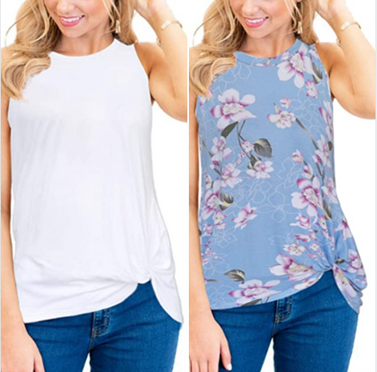 Sleeveless Twist Knot Tank drops half off with group code