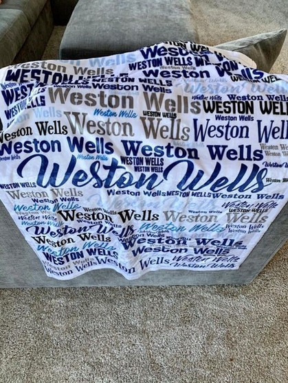 Personalized Blanket Marked down + ships free today