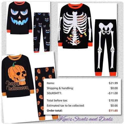 50% OFF Halloween PJs
