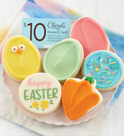 6-Pack of Cheryl's Easter Cookie Sampler for ONLY $9.99 + Free Shipping, get $10 reward card too!