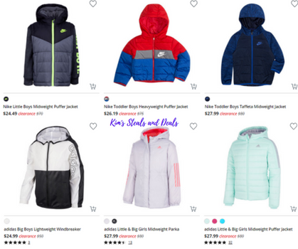 Fantastic clearance prices on name-brand kids coats!!