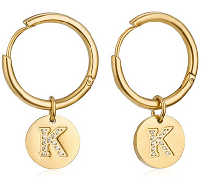 Initial Huggie Earrings are a STEAL!