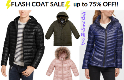 FLASH COAT SALE over at Macy's Today!!