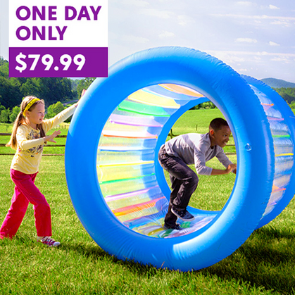 Well this looks fun! Inflatable Land Wheel!