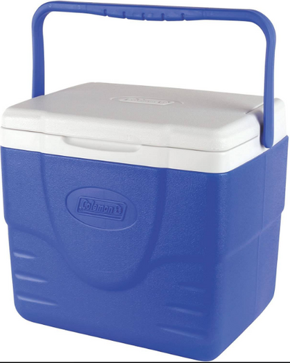Coleman Blue 9 Quart Cooler under $10!