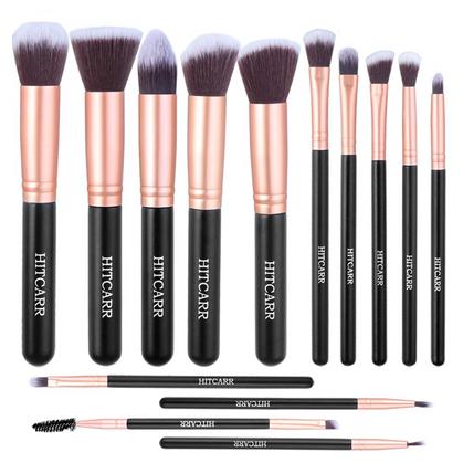 14Pcs Synthetic Makeup Brush Set for $7