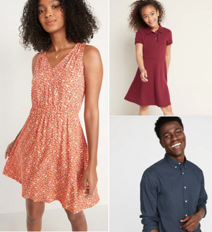 50% OFF Dresses and 50% OFF Button-Down Shirts in time for EASTER!