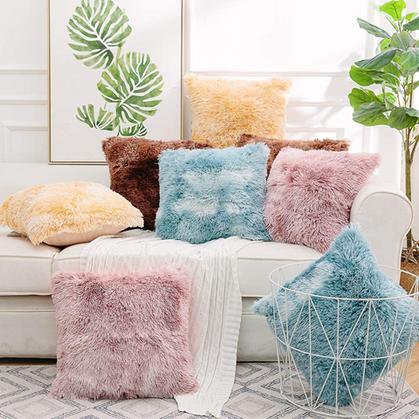 Soft Faux Fur Pillow Covers drop half off