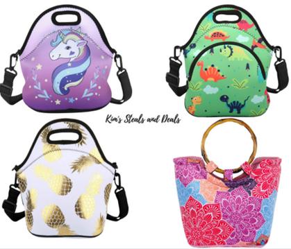 Reusable, Insulated Neoprene Lunch Bags around $10 thru my link!
