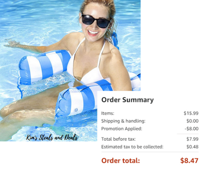 Inflatable Water Hammocks pricedso low!! $18.99!!