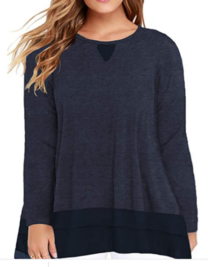 STEAL!! Snag this Womens Plus-Size Flowy Chiffon Tunics for around $10