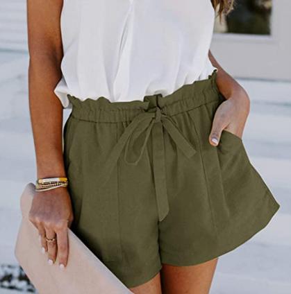 Cute Elastic Waist Drawstring Shorts with Pockets drop 40% OFF