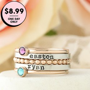 ONE DAY ONLY Customizable rings $8.99!!