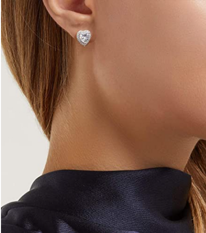 Sterling Silver CZ Stud Earrings drop 70% with group code
