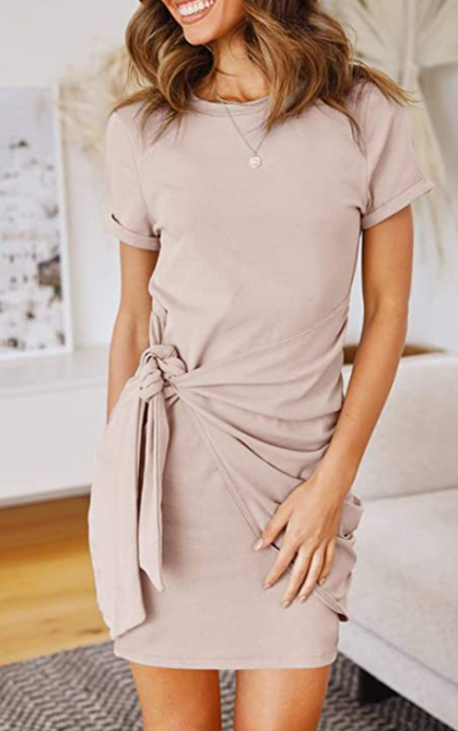 Adorable Short Sleeve Crew Neck Dress is a DEAL!