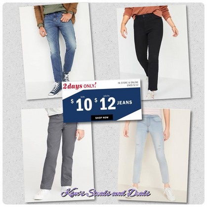 $12/$10 Jeans over at Old Navy!!