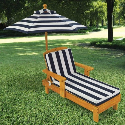 JR. Outdoor Chaise with Umbrella - 42% OFF