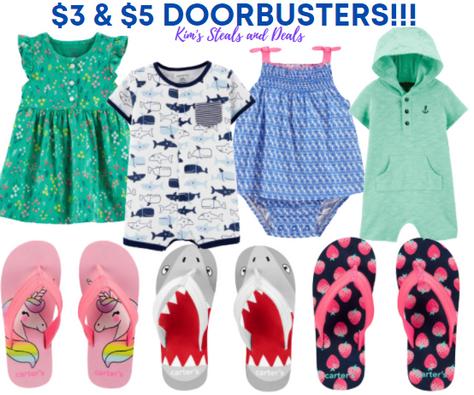 $3 & $5 Doorbusters at Carter's!!