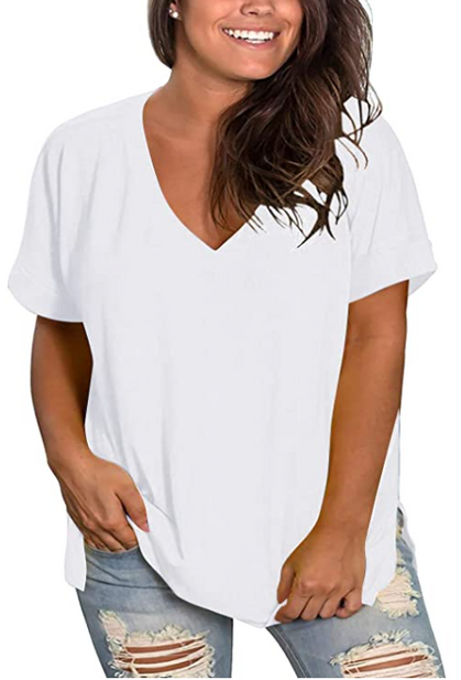 Women's Plus-Size (size 14-24) V-Neck Tees are 40% OFF