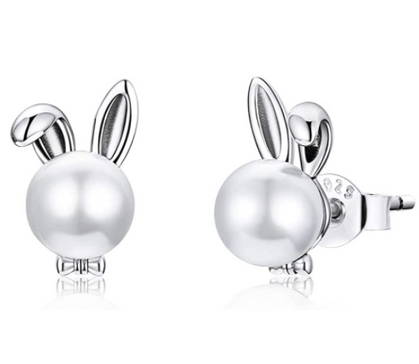 Sterling Silver Bunny Studs for $7.99 with group code