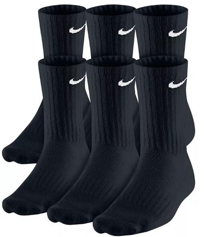 6 pairs of Black Nike Socks for $12.99!