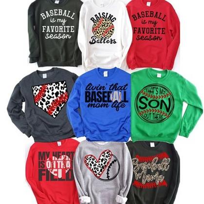 Score these Baseball Fan Sweatshirts - marked down + ship free today