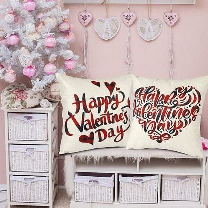 Set of 4 Valentine's Day Pillow Covers
