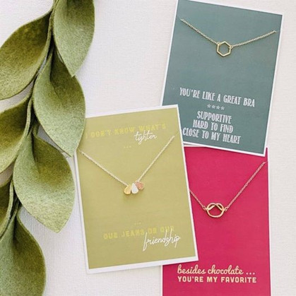 Score one of these hilarious Valentine Bestie Necklaces