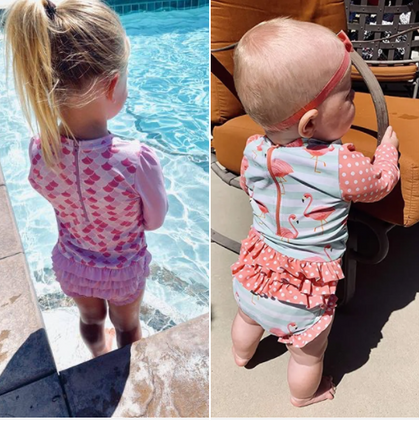 Ruffle Bottom Swimsuits are marked down and ship free! So Cute!
