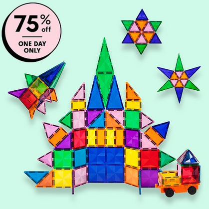 🤩 75% OFF The 80-Piece Picasso Tiles Magnetic Set!!