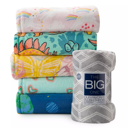 Plush Throws ON Clearance + use code SAVE20 for a STEAL!!