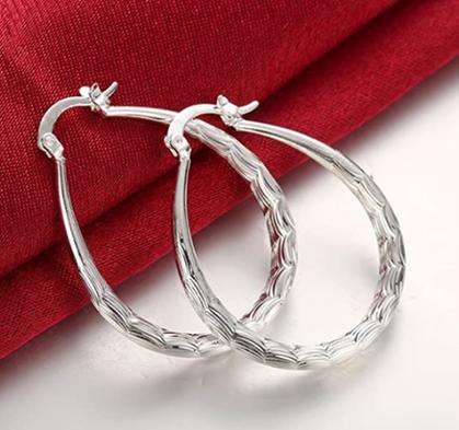 Sterling Silver Hoop Earrings drop 50% OFF w/code!