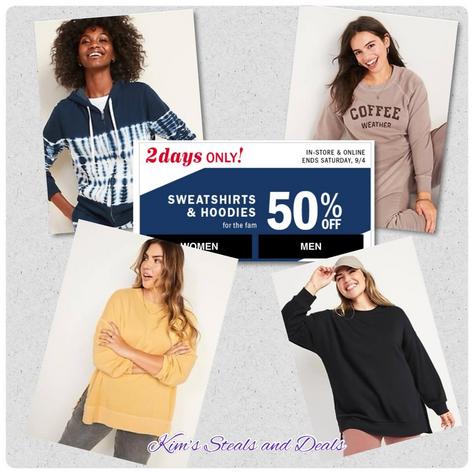 50% OFF Sweatshirts & Hoodies