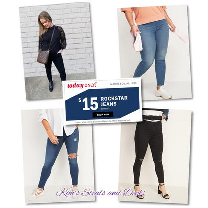 TODAY ONLY ~ $15 Rockstar Jeans