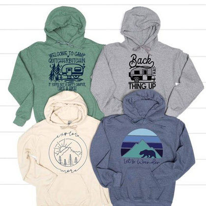 Camp-time hoodies are cute and funny!!!