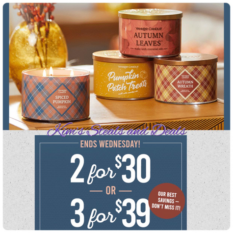 Yankee Candles 3 for $39!!