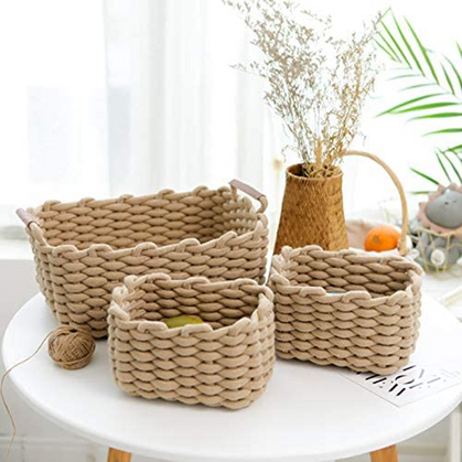 Beautiful Woven Storage Basket 3-Pack is 55% OFF!