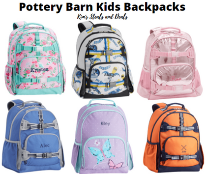 An extra 30% is coming off Clearance Pottery Barn Kids Backpacks with code!