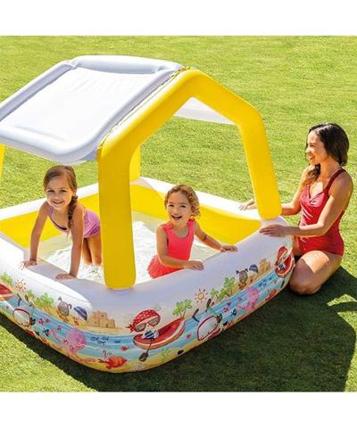 Huge price drop on Intex Yellow Sun Shade Pool!