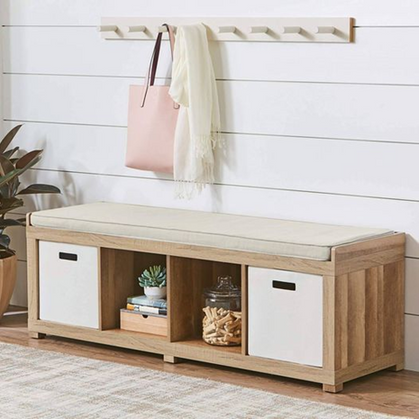 Better Homes and Gardens Organizer Bench - only $86 + free shipping!