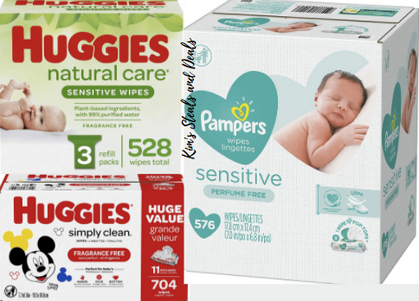 Mommas!! This one is for YOU!! LARGE clickable coupons on baby wipes!!