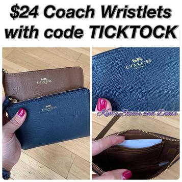 $24 Coach Wristlets + Free Shipping