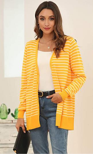 Ohhh...isn't this striped cardigan so pretty?
