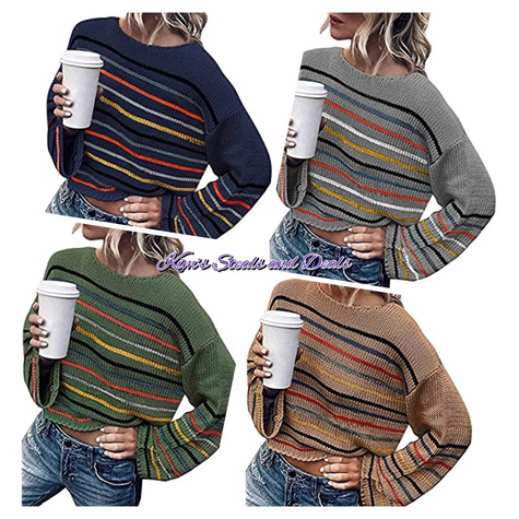 40% OFF Striped Sweaters
