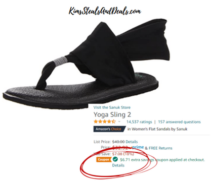 More Sanuk Sandals with Clickable Coupons!