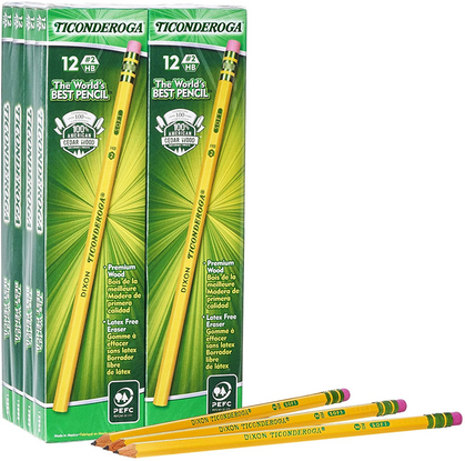 Teachers swear by these pencils - the 96-Pack TICONDEROGA Pencils are over half off!!