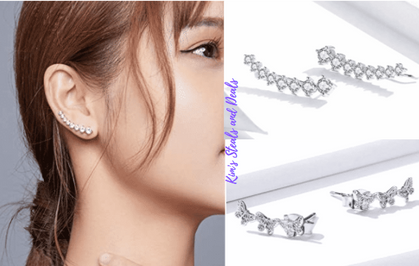 Sterling Silver Ear Crawler drops half off with group code!